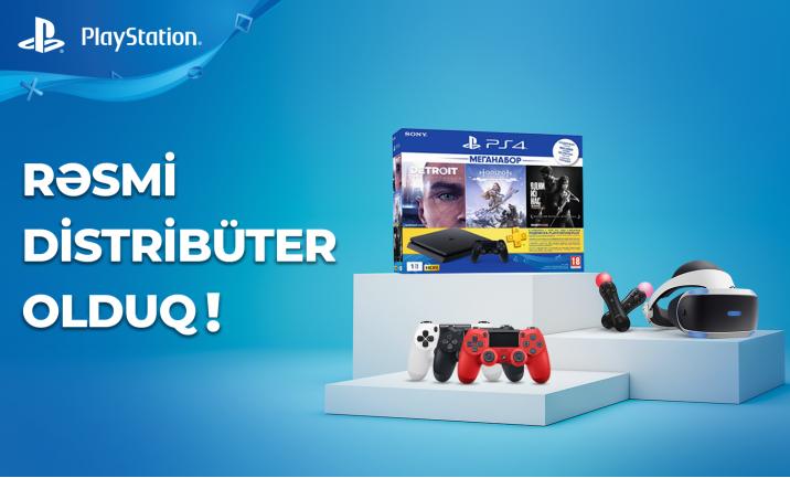 Playstation-un Rəsmi Distribüteri Olduq!