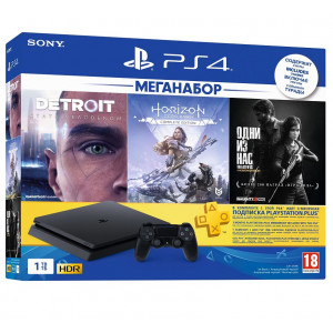 PS4 1TB + 3 Games + PS Plus