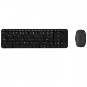 Everest KM-220 Black Wireless US Layout Multimedia Keyboard + Mouse Set