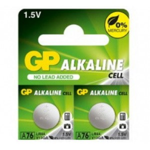 GP Alkaline button cell 1.5V A76F-U2