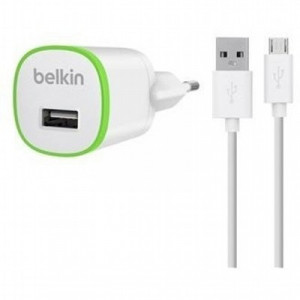 Belkin Home Charger USB 1A MicroUSB 1.2m,white