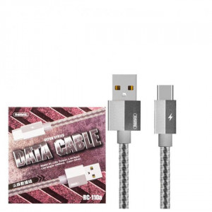 Remax Gefon Series Data Cable For Type-C RC-110a Silver
